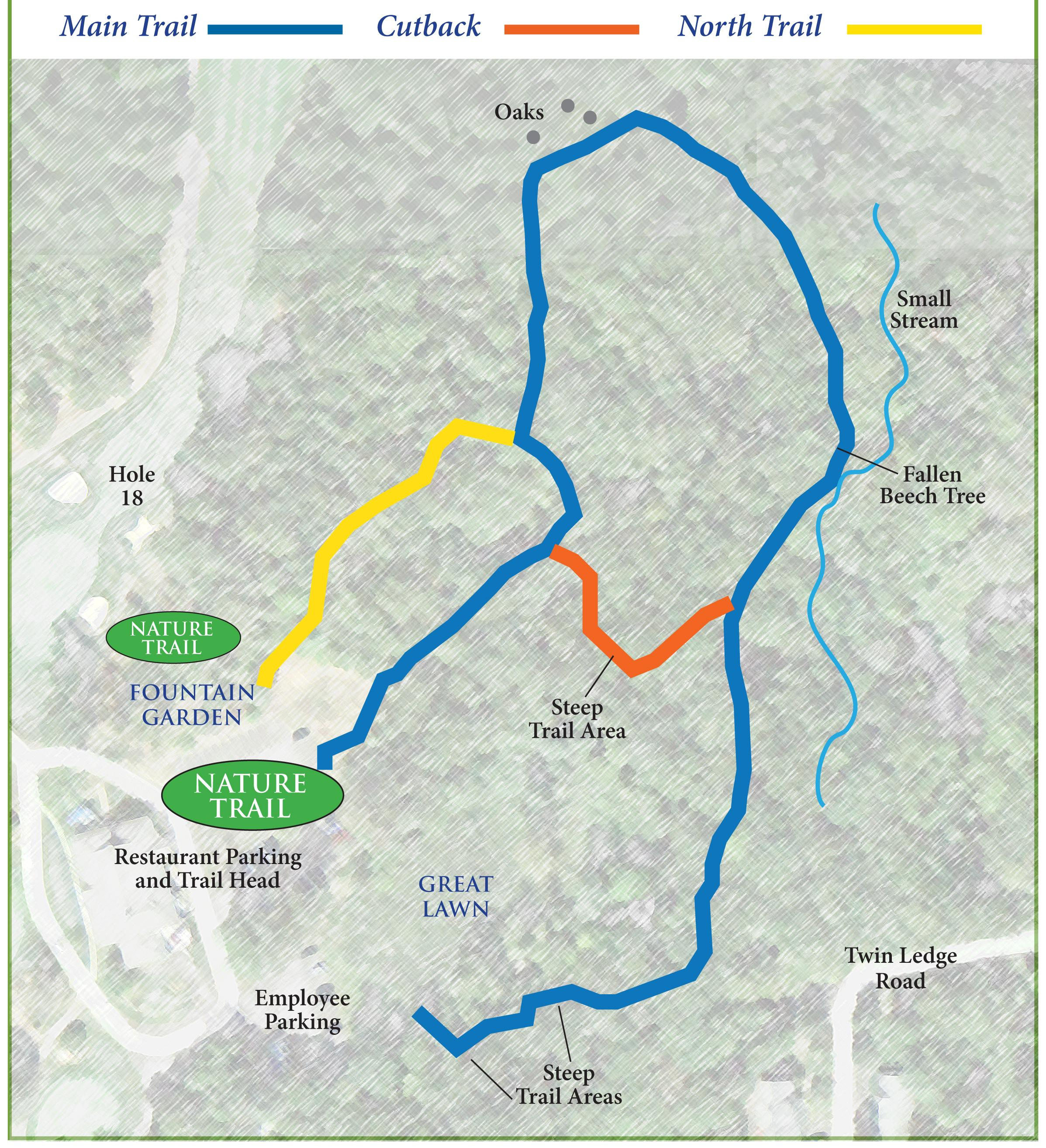 Oak Hills Park Walking Trail Map | Nature Trail in Fairfield County ...